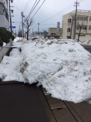 福井の大雪。